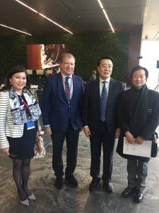 Con el vicealcalde de Beijing